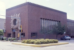 Merchants' National Bank in Poweshiek County, designed by Louis Sullivan