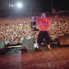 LL Cool J performing in Germany.