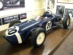 The Lotus 18 with which Stirling Moss took victory in the 1961 Monaco Grand Prix.