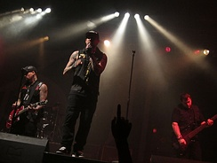 The Madden Brothers performing as Good Charlotte in Berlin, August 2011.
