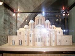 Софийский собор в Киеве. Макет— реконструкция первоначального вида.