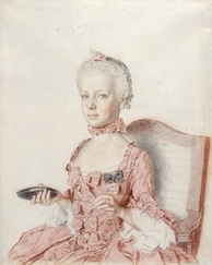 Archduchess Maria Antonia (watercolor by Jean-Étienne Liotard, 1762)