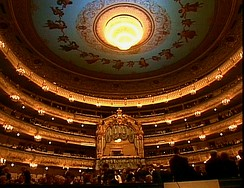 The main auditorium of the Mariinsky Theatre