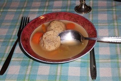 Soup with matza balls