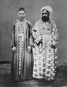 A Meccan merchant (right) and his Circassian slave, between 1886 and 1887