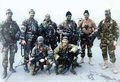 ODA 525 team picture taken shortly before infiltration in Iraq, February 1991