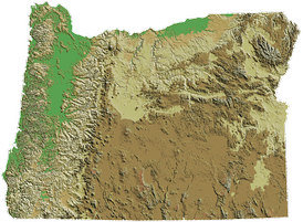 Oregon's topography.