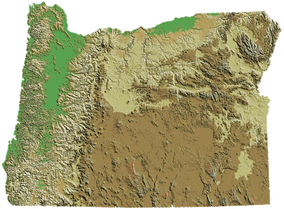 Oregon's topography