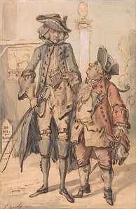 Caricature of George Bubb Dodington and Sir Thomas Robinson