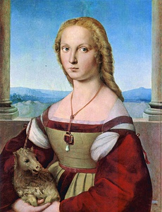 Raphael's Young Woman with Unicorn, c. 1506