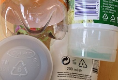 Recycling codes on products