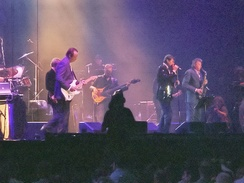 Roxy Music on stage during concert at London's ExCeL Exhibition Centre, July 2006