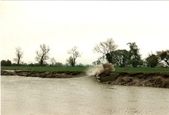 Bore hitting the riverbank in 1994