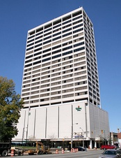 25-story Chase Tower, the tallest building in South Bend.