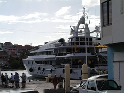 Private boat docked in St. Barts