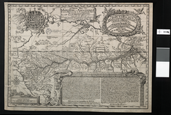 Samuel Fritz's 1707 map showing the Amazon and the Orinoco