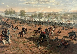 The Battle of Gettysburg, Pennsylvania during the Civil War by Thure de Thulstrup