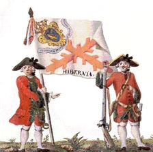 The Spanish Regiment of Hibernia, ca 1740; foreign military service remained common for Irish Catholics until banned after 1745