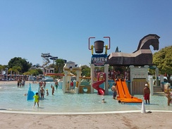 Children's play area at WaterWorld Themed Waterpark in Ayia Napa, Cyprus
