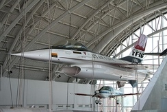 YF-16 on display at the Virginia Air and Space Center