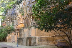 Sydney, Australia lies on Triassic shales and sandstones. Almost all of the exposed rocks around Sydney belong to the Triassic Sydney sandstone.[13]