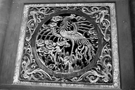 Relief of a dragon in Fuxi Temple (Tianshui). They are mythological birds of East Asia that reign over all other animals.