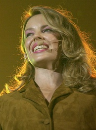 "Minogue performing ""Waltzing Matilda"" at the opening ceremony of the 2000 Sydney Summer Paralympics"