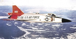 31st Fighter Interceptor Squadron Convair F-102A-75-CO Delta Dagger 56-1281, 1965. Aircraft crashed 12/27/67.