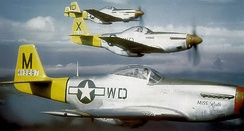 North American P-51D Mustangs of the 335th Fighter Squadron, 1944