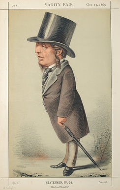 Owen was supported by in parliament Acton Smee Ayrton Caracature, Vanity Fair, 1869