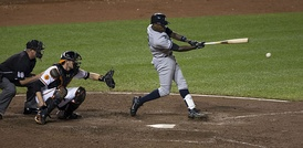Alfonso Soriano during a Yankees-Orioles game the September 10, 2013