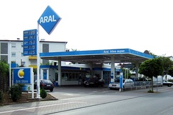 An Aral service station in Weiterstadt, Germany