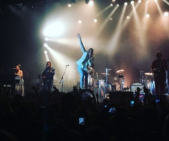 Arcade Fire during their first full-band show in two years in Barcelona