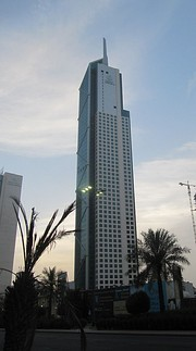 Al Hamra Tower is the tallest sculpted tower in the world.