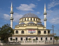 Auburn Gallipoli Mosque was built in the classical Ottoman style by Sydney's Turkish Muslim community.