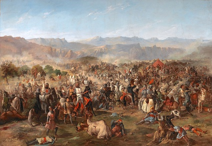Depiction of the Battle of Navas de Tolosa by 19th-century painter Francisco de Paula Van Halen, exhibited at the Senate building in Madrid.
