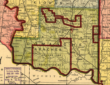Map of Comanche County in 1905