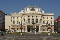 The old Slovak National Theatre building on Hviezdoslav Square