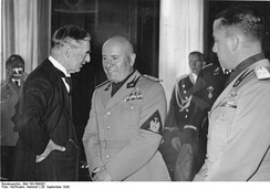 Chamberlain with Benito Mussolini, September 1938