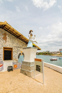 The religious house that holds the Afro-Brazilian goddess Yemanjá in Salvador.