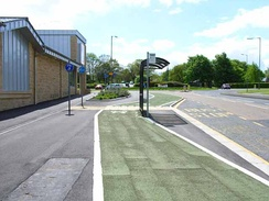 Bus stop in A3136 in Catterick Garrison town centre
