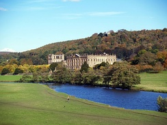 Chatsworth House, the setting for a recent adaptation of Pride and Prejudice