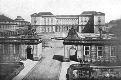 The second Christiansborg Palace seen from the showgrounds