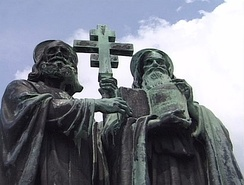 St. Cyril and St. Methodius monument on Mt. Radhošť.