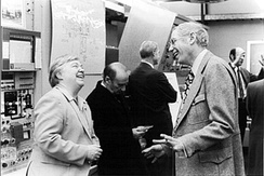 Dixy Lee Ray, last person to chair the AEC, with Robert G. Sachs, director of the Argonne National Laboratory