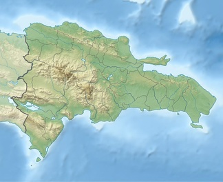 Topographical map of Dominican Republic