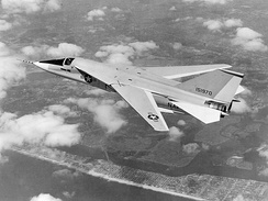 The F-111B was designed to fulfill the carrier-based interceptor role, but was found to have weight and performance problems, and was not suited to the aerial combat then becoming apparent over Vietnam