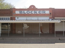 The former Blocker Store is now an abandoned building in downtown O'Donnell.