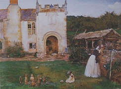 The Old Bowling Green (Halsway Manor, Somerset) (1865). Watercolour, British Museum, London.