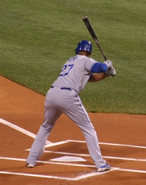 Kemp at the plate in 2008